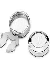 cheap -buttoncuff a-z letters silver button covers - stylish accessory for any shirt, jacket or collar (18mm) (t)
