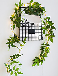 cheap -1X 2M 20 LED Artificial Plants String Light Green Leaf With Flower Ivy Vine Fairy Light String Leaves Lamp Garland DIY Hanging Home Indoor Decor Lighting AA Battery Power (come without battery)