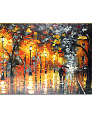 cheap -Oil Painting Handmade Hand Painted Wall Art Romantic Couples Night Home Decoration Décor Rolled Canvas No Frame Unstretched