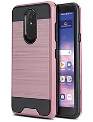 cheap -phone case for [lg journey lte (l322dl)], [protech series][rose gold] shockproof brushed hybrid slim cover for lg journey lte (tracfone, simple mobile, straight talk, total wireless)