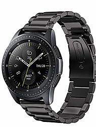 cheap -bands compatible with huawei watch gt 2 46mm band,22mm stainless steel metal replacement strap for huawei watch gt 2 2019 bluetooth smartwatch 46mm(black)