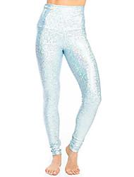 cheap -mermaid legging-light blue-s womens sparkle yoga leggings light blue