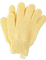cheap -exfoliating bath scrubbing gloves - dead skin cells remover(1pair of pack, yellow)