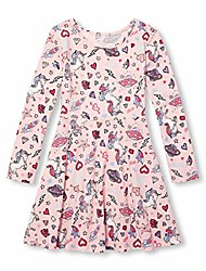 cheap -big girls long sleeve pleated dress, lavender lane, xxl(16)