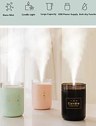 cheap -280ML Ultrasonic Air Humidifier Candle Romantic Soft Light USB Essential Oil Diffuser Car Purifier Aroma Anion Mist Maker