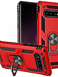 cheap -galaxy s10 plus case/samsung s10+ plus phone case, [military grade] [metal ring][magnetic support] defender heavy duty armor cover for samsung galaxy s10 plus (red)