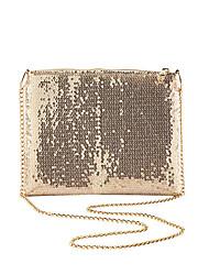 cheap -Women's Bags Polyester Alloy Evening Bag Glitter Sequin Sequin Metallic Fashion Wedding Bags Wedding Party Gold