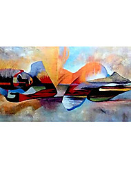cheap -Oil Painting Hand Painted Horizontal People Religious Modern Rolled Canvas (No Frame)