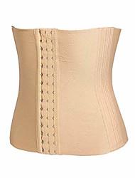 cheap -waist trainer corset for weight loss tummy control sport workout body shaper (beige 2,xl)