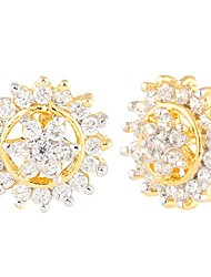 cheap -indian bollywood designer 18 k gold plated traditional cz stud earrings jewelry for women and girls gift for her