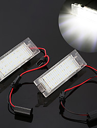 cheap -2pcs Car-Styling LED License Plate Lights For Opel Astra H J Insignia Zafira B Corsa C D E Meriva A B Vectra C