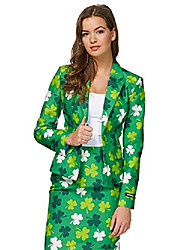 cheap -fun suits for women - st patricks day - includes jacket, pants & tie - us12 - l