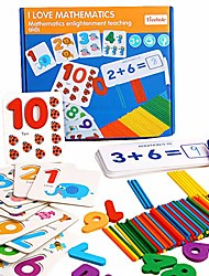 cheap -seeing and matching mathematics learning toys puzzles wooden sticks addition and subtraction sight numbers games montessori preschool educational math toys for toddlers kids boys girls