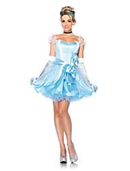 cheap -leg avenue  3pc.classic cinderella dress choker and head piece, blue, large