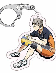 cheap -haikyuu!! anime keychain cosplay key rings for bag and belt loop accessory volleyball fans gift(one size style 03)