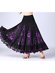 cheap -Ballroom Dance Skirts Wave-like Women's Performance Daily Wear High Polyester