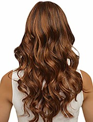 cheap -wig, 65cm fashion women synthetic long wavy brown gradient dyeing natural hair full wigs - casual/cosplay/party wig (b) (a)