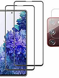 cheap -[2 +1] for samsung galaxy s20 fe 5g screen protector termperd glass [camera lens protector] [anti-scratch] [bubble free] [case friendly] for s20 fe 5g 2020