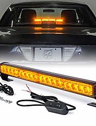 "cheap -18"" inch 16 led amber yellow emergency traffic advisor vehicle strobe light bar w/ 7 warning flashing modes for trucks vehicles cars"