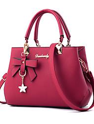 cheap -women purses pu leather handbags zipper tote bags messenger bag (black)