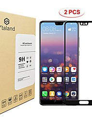 cheap -[2 pack] huawei p20 pro screen protector,  [ full coverage ] [0.3mm, 2.5d] [bubble-free] [9h hardness] [hd clear] tempered glass screen protector for huawei p20 pro (black)