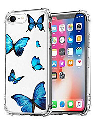 cheap -iphone se 2020 clear case, clear soft tpu silicone shockproof glitters cute butterfly women girls' case cover for apple iphone se 2nd iphone 7 iphone 8-butterfly a