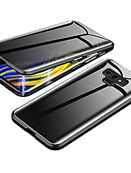 cheap -anti-spy case for samsung galaxy note 9,  360 degree front and back privacy tempered glass cover, anti peeping screen, magnetic adsorption metal bumper for samsung galaxy note 9 (black)