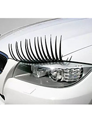 cheap -2PC Headlight Black Eyelash Sticker Car Eyelashes Car False Eyelashes Car Sticker Motorcycle Car Styling Accessories Automobiles