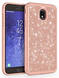 cheap -case for samsung galaxy j7 2018 / j7 v 2nd gen / j7v 2018 / j7 refine / j7 star / j7 aero / j7 top / j7 crown / j7 aura / j7 eon,  [glitter] protective phone case cover [rose gold]