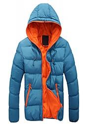 cheap -brand- men's winter jacket with hood warm coat men's cotton jacket hooded jacket for winter/autumn sky blue