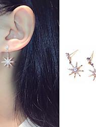 cheap -Women's AAA Cubic Zirconia Stud Earrings Drop Earrings Dangle Earrings Geometrical Star Trendy Rock Korean Earrings Jewelry Silver For Street Vacation Festival 1 Pair