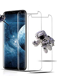 cheap -[2 pack] galaxy s8 clear screen protector,[case friendly][anti-fingerprint] tempered glass screen protector compatible with samsung galaxy s8