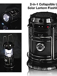 cheap -2-in-1 solar rechargeable led lantern with dual power supply and built-in power bank, apl1418