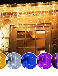 cheap -1X 4M 96Leds Xmas Colorful Icicle LED Fairy String Light Flashing Lighting Curtain Light IP65 Waterproof Outdoor Holiday Party Connectable Wave Flexible Lights AC110V 120V 220V 230V 240V EU US Plug
