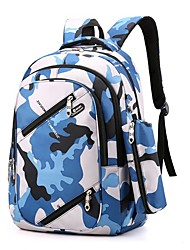 cheap -Kids Nylon Special Material School Bag Commuter Backpack Large Capacity Lightweight Pattern / Print Zipper Geometric Pattern Geometric Sports & Outdoor Daily Blue Red Green Dark Blue