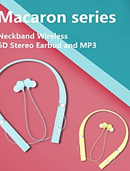 cheap -T54 Bluetooth Earphone MP3 Neckband Wireless 6D Stereos Headphones Sport Headsets with Mic Magnetic Earbuds