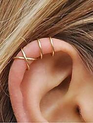 cheap -5 piece women cute ear cuff cross ear cuff for non-pierced for girls ear clip earrings minimalist earrings cartilage ear cuff simple fashion unique jewelry gift for her (gold)