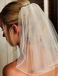 cheap -pebridal short wedding veil sequin with comb bride to be bridal veils ivory