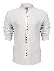 cheap -dress shirt for men long sleeve summer cotton t-shirt henley