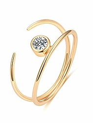 cheap -gold dainty open wrap ring cubic zirconia ring simulated diamond rings thin cz stackable rings for women