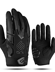 cheap -CoolChange Touch Gloves Anti-Slip Anti-Shake / Damping Wearable Stretchy Full Finger Gloves Sports Gloves Lycra Black / Red Black Black+White for Road Cycling Leisure Sports Outdoor Exercise