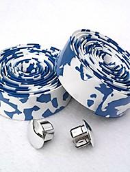 cheap -white & blue camouflage eva road bike handlebar tape cycling bar tapes - 2pcs per set