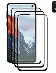 cheap -[3 pack] samsung galaxy s 10e screen protector, tempered glass anti-scratch, bubble free and case friendly, 3d curved edge, screen protector compatible note 10 (5.8 inch)