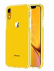 cheap -ispider clear case designed for iphone xr, [9.8 feet anti-fall] premium protective case for apple iphone xr, [hard pc back and dual-layer reinforced tpu bumper frame] - yellow bumper