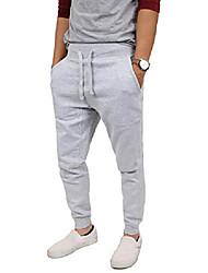 cheap -mens jogger pants casual Trousers Drastring Waist Jogging premium fleece active elastic sweatpants