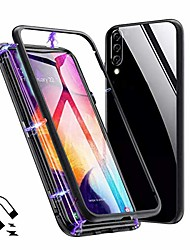 """cheap -redmi note 8 pro case,  slim magnetic adsorption full body protective case clear tempered glass full screen coverage metal bumper frame hard cover for xiaomi redmi note 8 pro (6.53"""")[black]"""