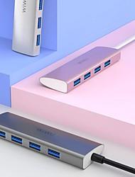 cheap -WIWU USB Hub 4 Ports Multi USB Adapter for MacBook Pro Air USB Splitter Type C Hub for Samsung Fast Charging Laptop USB Hub 3.0