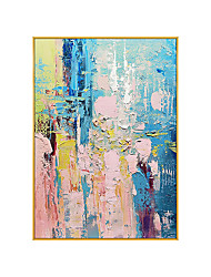 cheap -100% Handmade Golden Pink and Blue Abstract Painting Modern Art Picture For Living Room Modern Cuadros Canvas Art High Quality