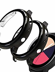 cheap -screen protector compatible with samsung galaxy watch active2 44mm, 2 pack tempered glass film with hard pc case, black