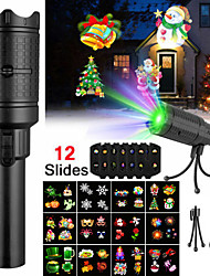 cheap -LED Projector Flashlight Landscape Outdoor Xmas Party Garden Film Lamp 4 Pattern Projection Lamp Halloween